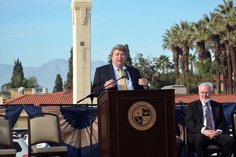 加州浸会大学举行新工程学教学楼奠基仪式